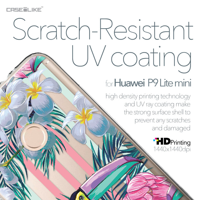 Huawei P9 Lite mini case Tropical Floral 2240 with UV-Coating Scratch-Resistant Case | CASEiLIKE.com