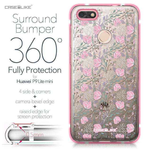 Huawei P9 Lite mini case Flowers Herbs 2246 Bumper Case Protection | CASEiLIKE.com