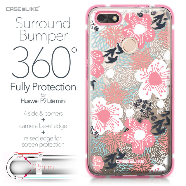 Huawei P9 Lite mini case Japanese Floral 2255 Bumper Case Protection | CASEiLIKE.com