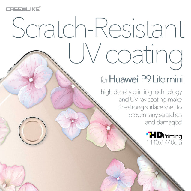 Huawei P9 Lite mini case Hydrangea 2257 with UV-Coating Scratch-Resistant Case | CASEiLIKE.com