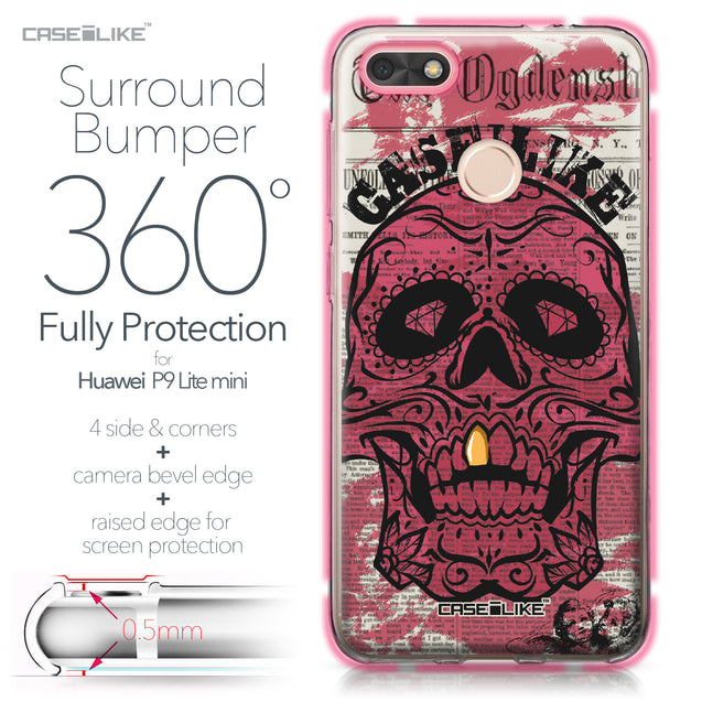 Huawei P9 Lite mini case Art of Skull 2523 Bumper Case Protection | CASEiLIKE.com