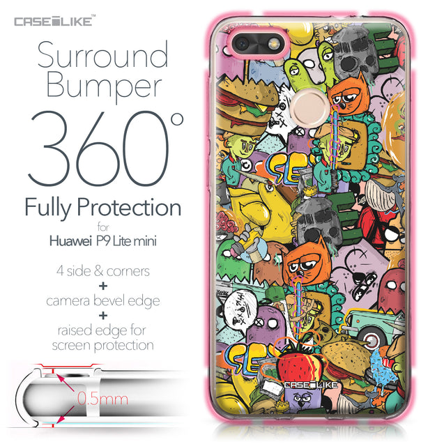 Huawei P9 Lite mini case Graffiti 2731 Bumper Case Protection | CASEiLIKE.com