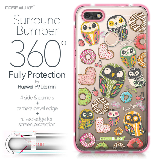 Huawei P9 Lite mini case Owl Graphic Design 3315 Bumper Case Protection | CASEiLIKE.com