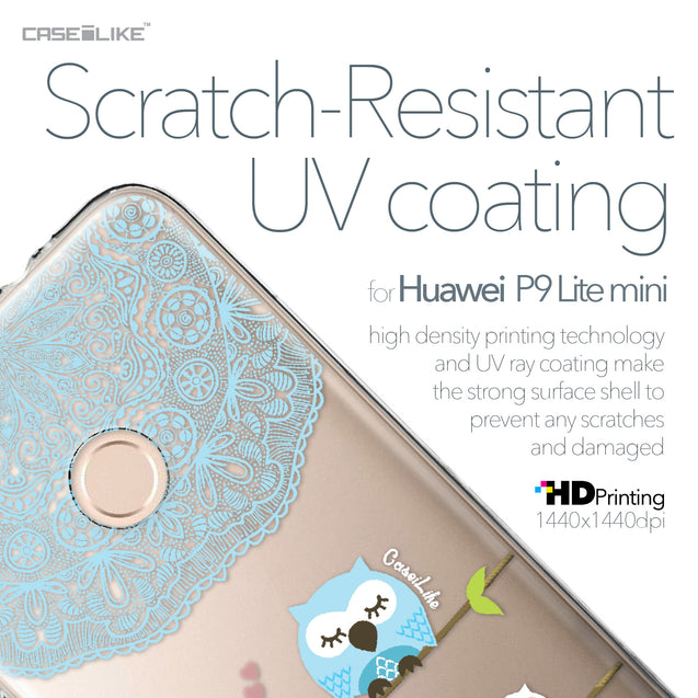 Huawei P9 Lite mini case Owl Graphic Design 3318 with UV-Coating Scratch-Resistant Case | CASEiLIKE.com