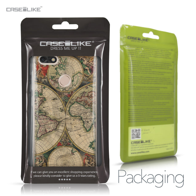 Huawei P9 Lite mini case World Map Vintage 4607 Retail Packaging | CASEiLIKE.com