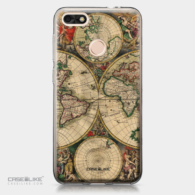 Huawei P9 Lite mini case World Map Vintage 4607 | CASEiLIKE.com
