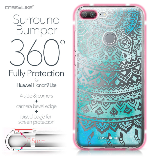 Huawei Honor 9 Lite case Indian Line Art 2066 Bumper Case Protection | CASEiLIKE.com