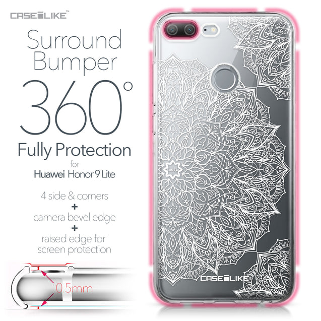 Huawei Honor 9 Lite case Mandala Art 2091 Bumper Case Protection | CASEiLIKE.com