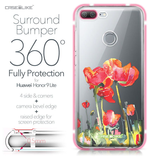 Huawei Honor 9 Lite case Watercolor Floral 2230 Bumper Case Protection | CASEiLIKE.com