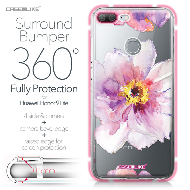 Huawei Honor 9 Lite case Watercolor Floral 2231 Bumper Case Protection | CASEiLIKE.com