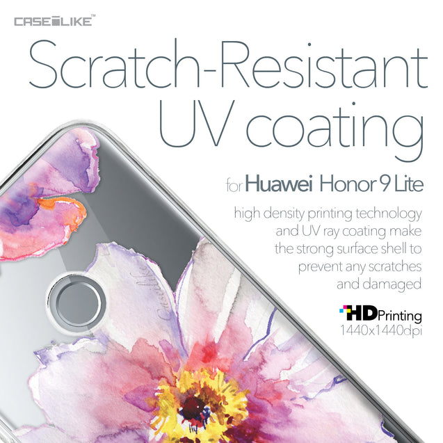 Huawei Honor 9 Lite case Watercolor Floral 2231 with UV-Coating Scratch-Resistant Case | CASEiLIKE.com