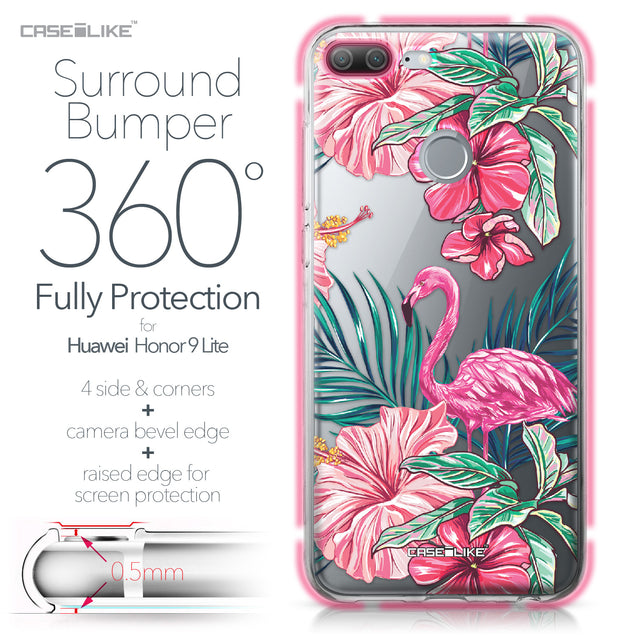 Huawei Honor 9 Lite case Tropical Flamingo 2239 Bumper Case Protection | CASEiLIKE.com