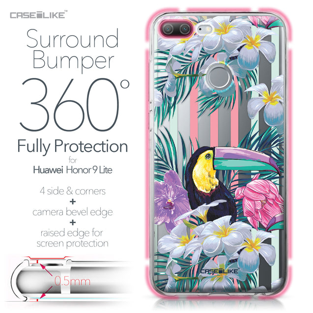 Huawei Honor 9 Lite case Tropical Floral 2240 Bumper Case Protection | CASEiLIKE.com