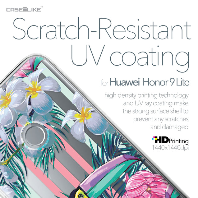 Huawei Honor 9 Lite case Tropical Floral 2240 with UV-Coating Scratch-Resistant Case | CASEiLIKE.com