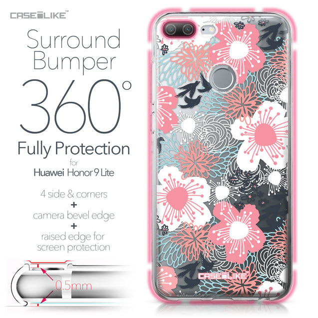 Huawei Honor 9 Lite case Japanese Floral 2255 Bumper Case Protection | CASEiLIKE.com