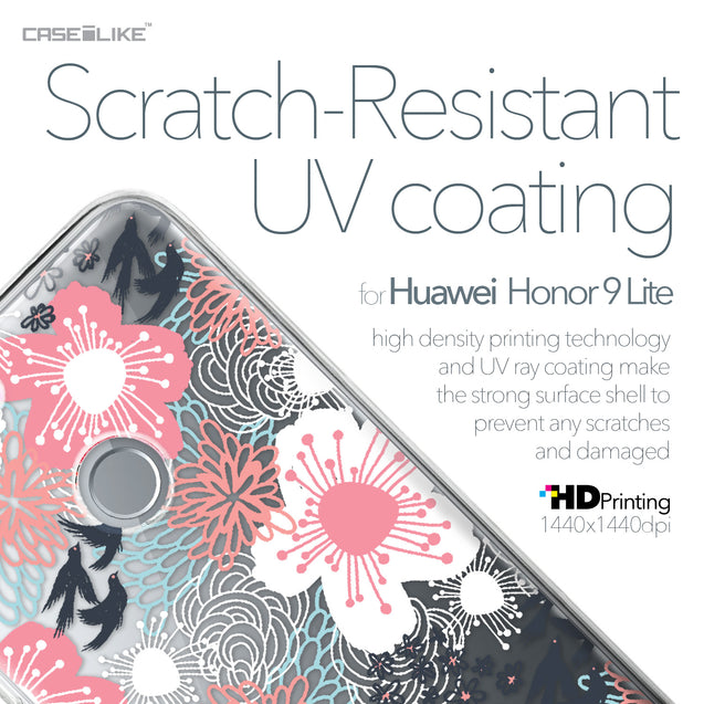 Huawei Honor 9 Lite case Japanese Floral 2255 with UV-Coating Scratch-Resistant Case | CASEiLIKE.com
