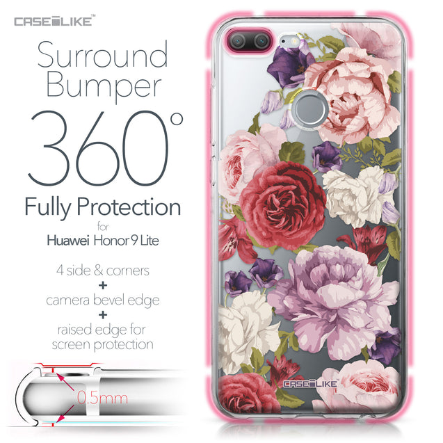 Huawei Honor 9 Lite case Mixed Roses 2259 Bumper Case Protection | CASEiLIKE.com