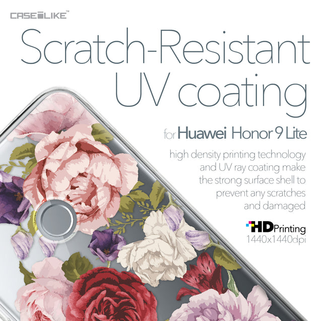 Huawei Honor 9 Lite case Mixed Roses 2259 with UV-Coating Scratch-Resistant Case | CASEiLIKE.com