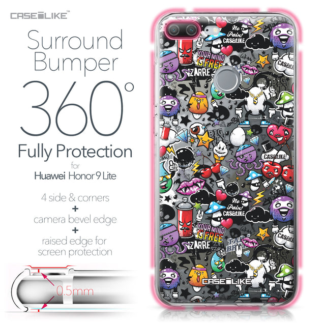 Huawei Honor 9 Lite case Graffiti 2703 Bumper Case Protection | CASEiLIKE.com