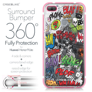 Huawei Honor 9 Lite case Comic Captions 2914 Bumper Case Protection | CASEiLIKE.com
