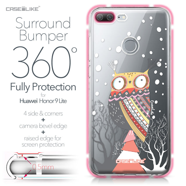 Huawei Honor 9 Lite case Owl Graphic Design 3317 Bumper Case Protection | CASEiLIKE.com