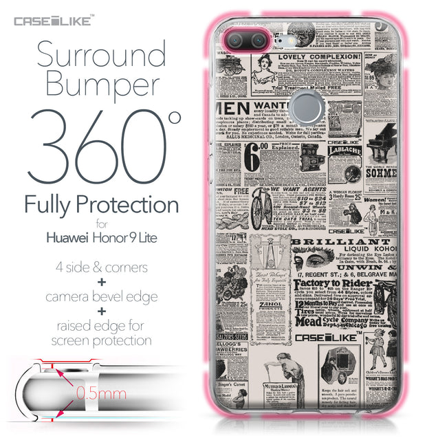 Huawei Honor 9 Lite case Vintage Newspaper Advertising 4818 Bumper Case Protection | CASEiLIKE.com
