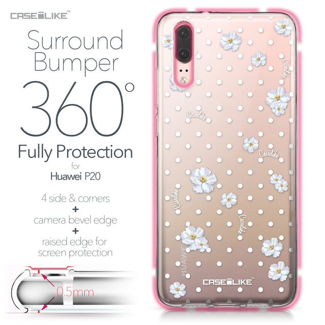 Huawei P20 case Watercolor Floral 2235 Bumper Case Protection | CASEiLIKE.com