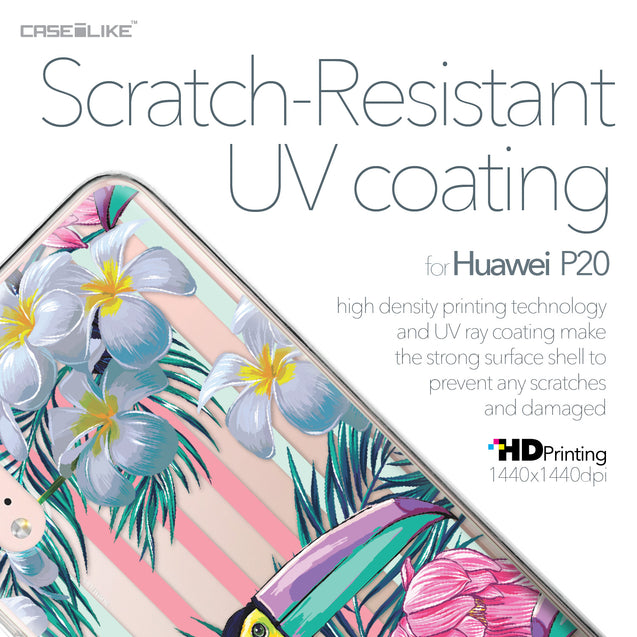 Huawei P20 case Tropical Floral 2240 with UV-Coating Scratch-Resistant Case | CASEiLIKE.com
