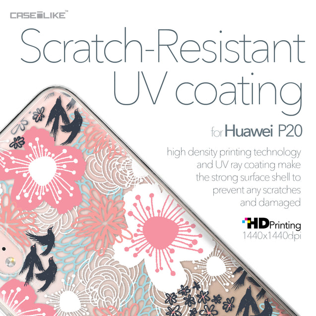 Huawei P20 case Japanese Floral 2255 with UV-Coating Scratch-Resistant Case | CASEiLIKE.com