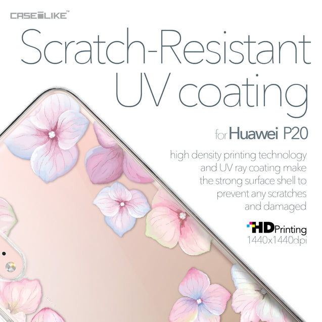 Huawei P20 case Hydrangea 2257 with UV-Coating Scratch-Resistant Case | CASEiLIKE.com