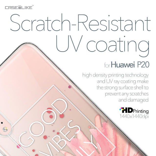 Huawei P20 case Gerbera 2258 with UV-Coating Scratch-Resistant Case | CASEiLIKE.com