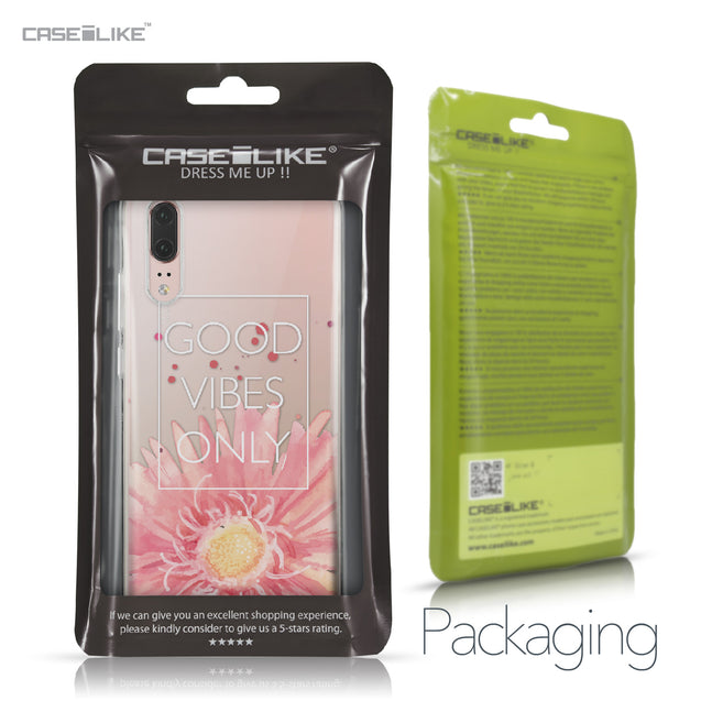 Huawei P20 case Gerbera 2258 Retail Packaging | CASEiLIKE.com