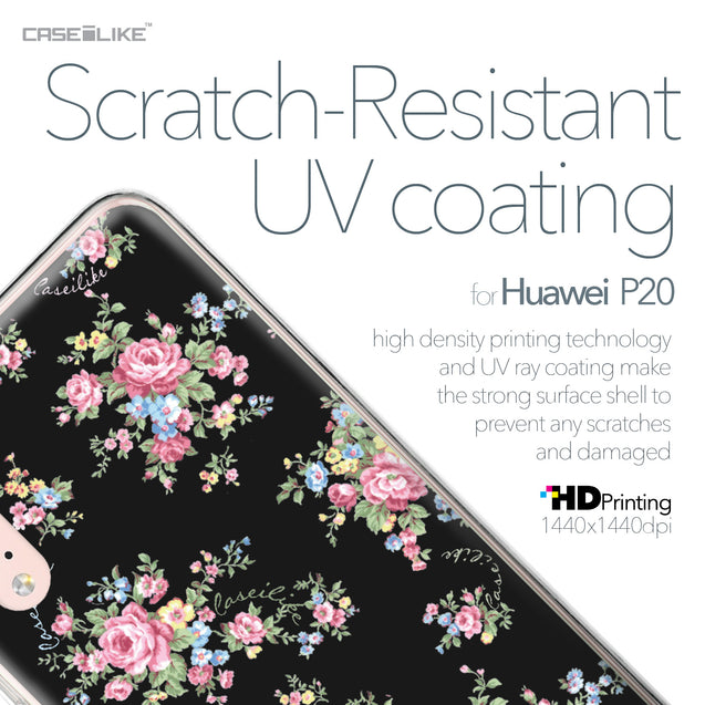 Huawei P20 case Floral Rose Classic 2261 with UV-Coating Scratch-Resistant Case | CASEiLIKE.com