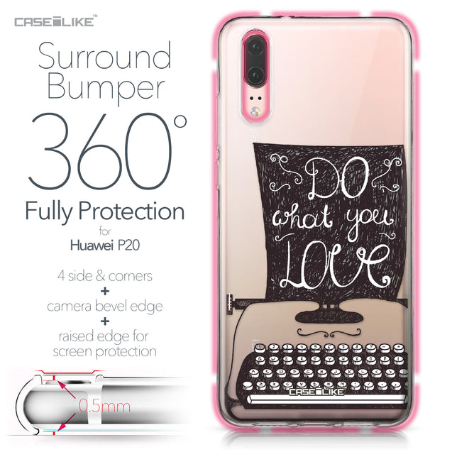 Huawei P20 case Quote 2400 Bumper Case Protection | CASEiLIKE.com