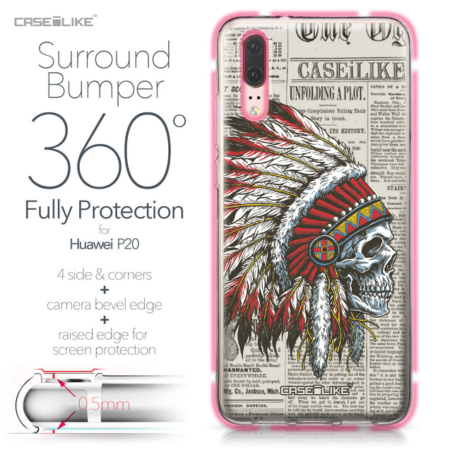 Huawei P20 case Art of Skull 2522 Bumper Case Protection | CASEiLIKE.com