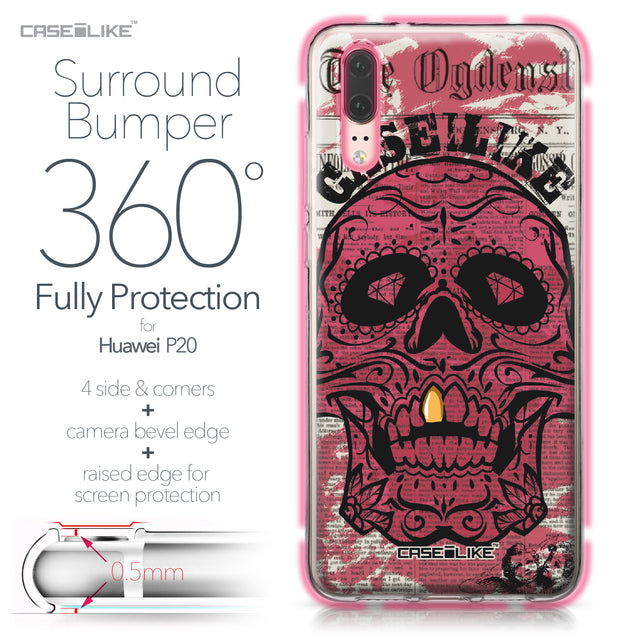 Huawei P20 case Art of Skull 2523 Bumper Case Protection | CASEiLIKE.com