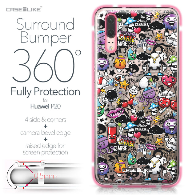 Huawei P20 case Graffiti 2703 Bumper Case Protection | CASEiLIKE.com