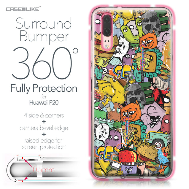 Huawei P20 case Graffiti 2731 Bumper Case Protection | CASEiLIKE.com