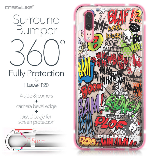 Huawei P20 case Comic Captions 2914 Bumper Case Protection | CASEiLIKE.com