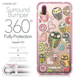 Huawei P20 case Owl Graphic Design 3315 Bumper Case Protection | CASEiLIKE.com