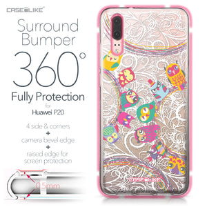 Huawei P20 case Owl Graphic Design 3316 Bumper Case Protection | CASEiLIKE.com