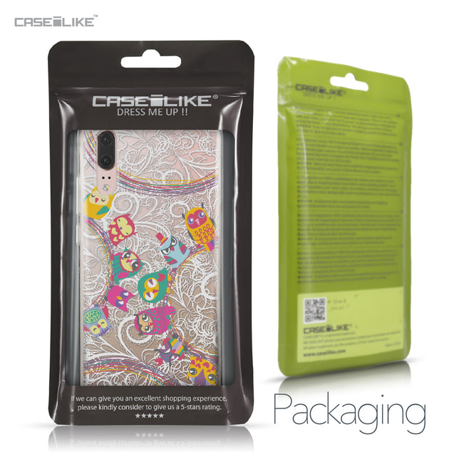 Huawei P20 case Owl Graphic Design 3316 Retail Packaging | CASEiLIKE.com