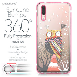 Huawei P20 case Owl Graphic Design 3317 Bumper Case Protection | CASEiLIKE.com
