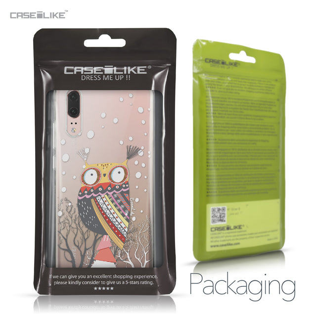 Huawei P20 case Owl Graphic Design 3317 Retail Packaging | CASEiLIKE.com