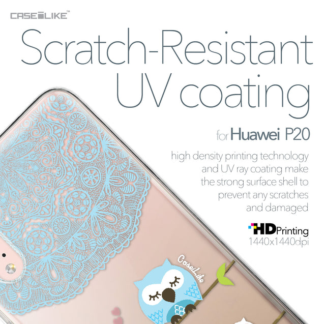 Huawei P20 case Owl Graphic Design 3318 with UV-Coating Scratch-Resistant Case | CASEiLIKE.com