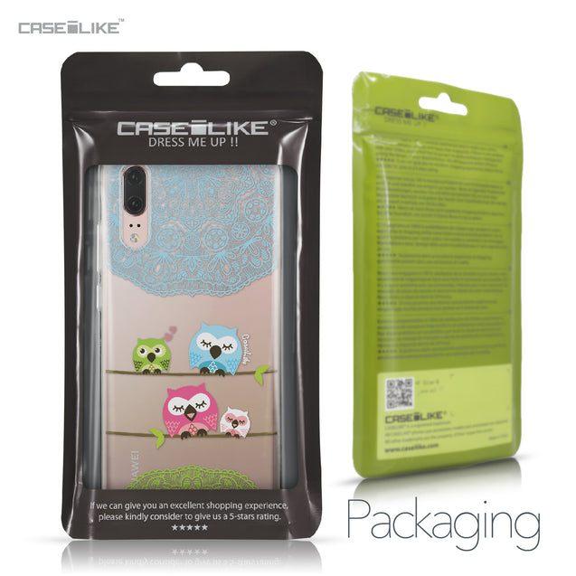Huawei P20 case Owl Graphic Design 3318 Retail Packaging | CASEiLIKE.com