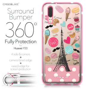 Huawei P20 case Paris Holiday 3904 Bumper Case Protection | CASEiLIKE.com
