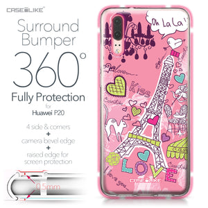Huawei P20 case Paris Holiday 3905 Bumper Case Protection | CASEiLIKE.com