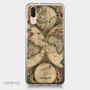 Huawei P20 case World Map Vintage 4607 | CASEiLIKE.com