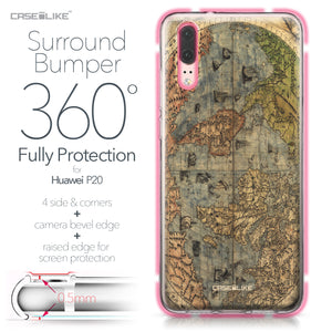 Huawei P20 case World Map Vintage 4608 Bumper Case Protection | CASEiLIKE.com